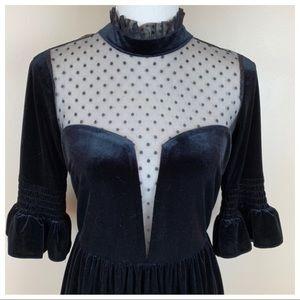 ASOS Dresses - ASOS Black Lace Donny Mini Skater Dress. Size 6.
